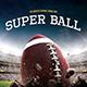 Super Ball Football Flyer Template