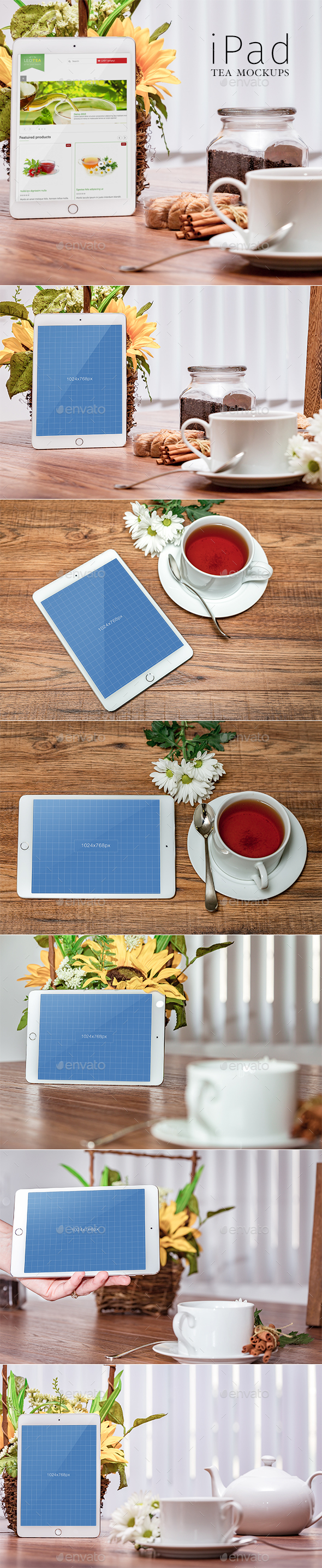 iPad Tea-Mockups - Mobile Displays