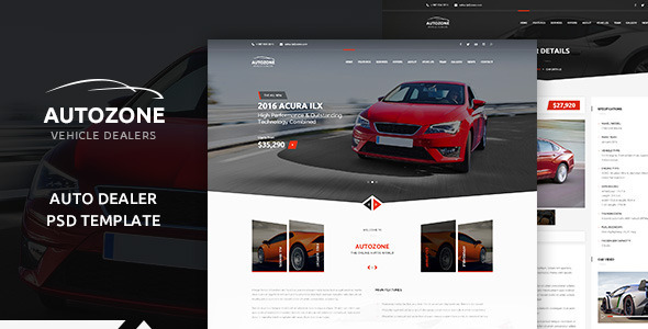 AUTOZONE -  Car Dealer PSD Theme - Retail PSD Templates