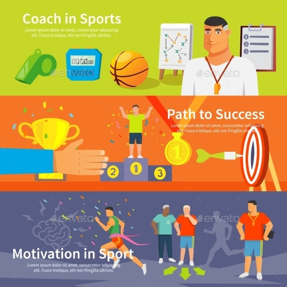 Coaching Sport Banner Set - Sports/Activity Conceptual