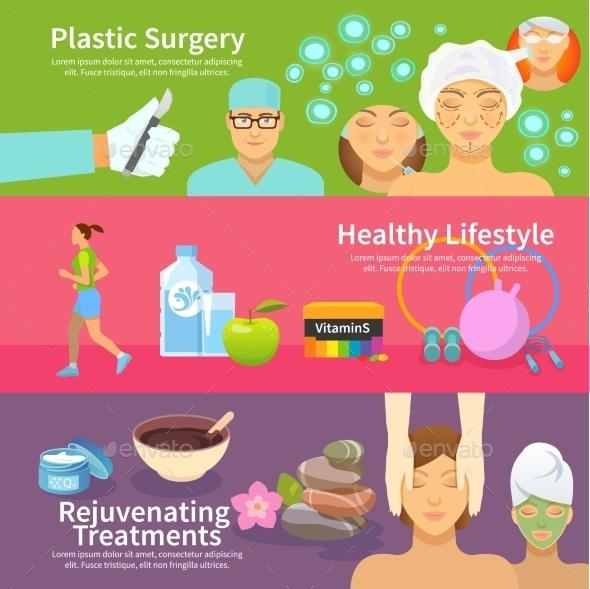 Rejuvenation Banner Set - Health/Medicine Conceptual