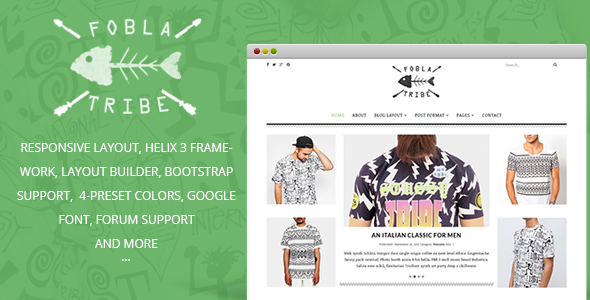 FoblaTribe - Fashion Blog Joomla 3