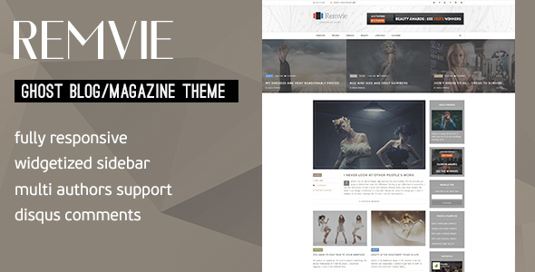 Remvie – Magazine Style and Blog Ghost Theme