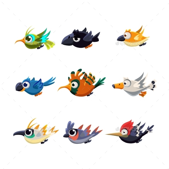 Flying Birds Set - Miscellaneous Vectors