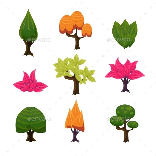 Cartoon Trees - Miscellaneous Vectors
