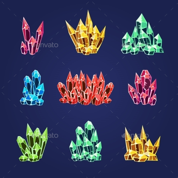 Magic Crystals Icons Textures  - Organic Objects Objects
