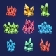 Magic Crystals Icons Set - GraphicRiver Item for Sale