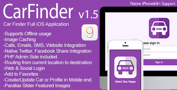 Download Source code              Car Finder Full iOS Application v1.5 nulled version