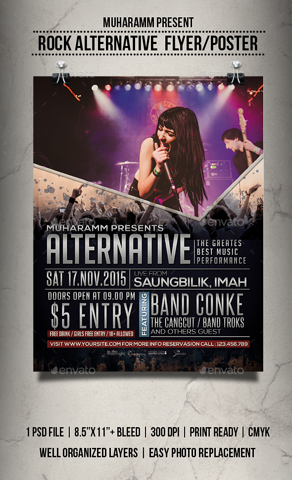 Rock Alternative Flyer / Poster - Events Flyers