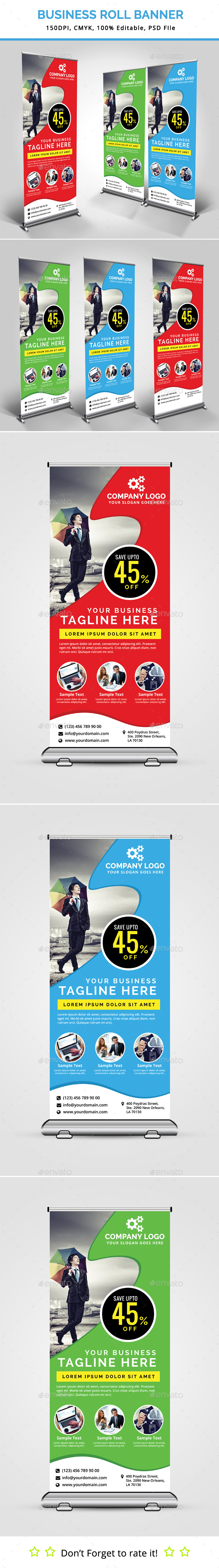 Business Roll Up Banner V16 - Signage Print Templates