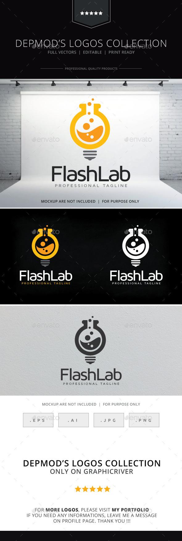 Flash Lab Logo - Symbols Logo Templates