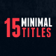 15 Minimal Titles - VideoHive Item for Sale