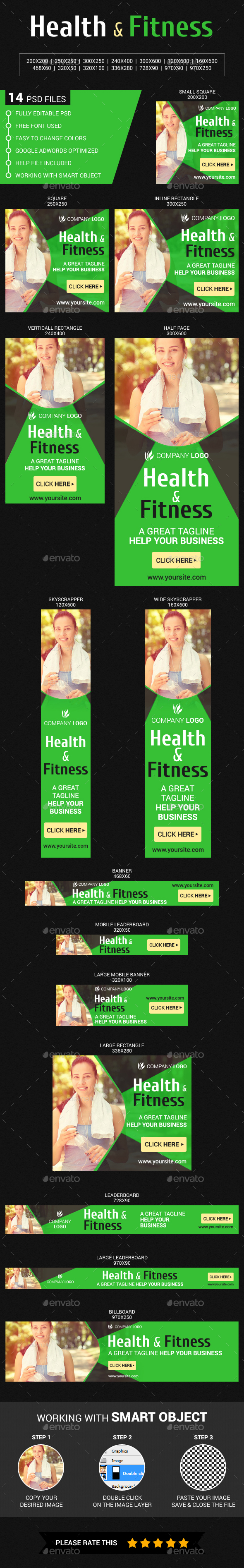 Health & Fitness_2 - Banners & Ads Web Elements