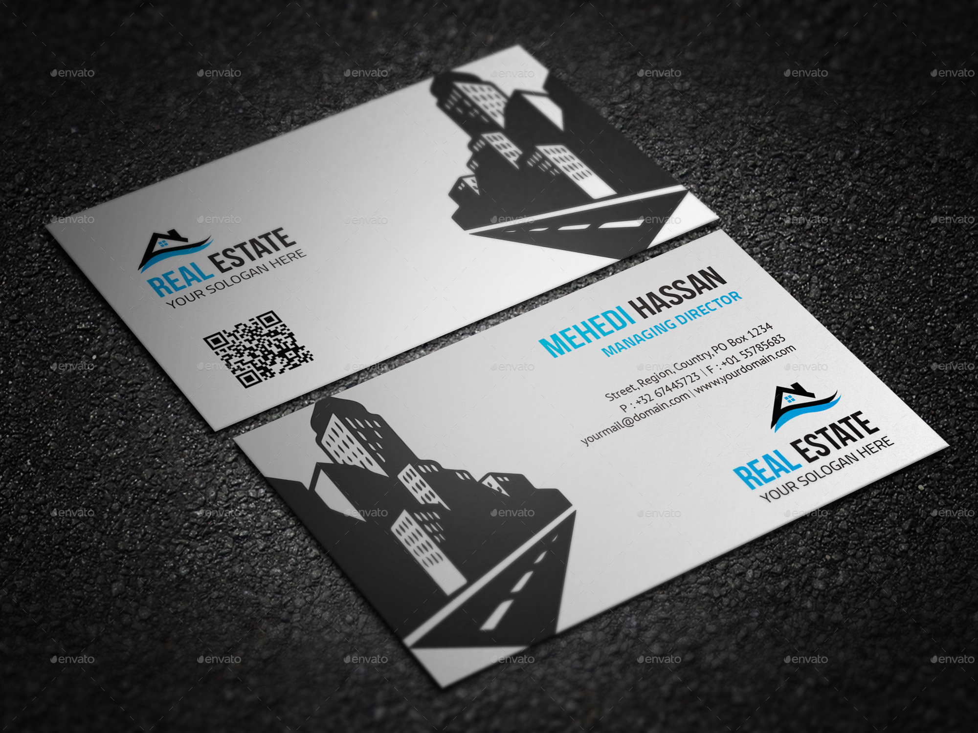 Real Estate Business Card by Mehedi__Hassan | GraphicRiver