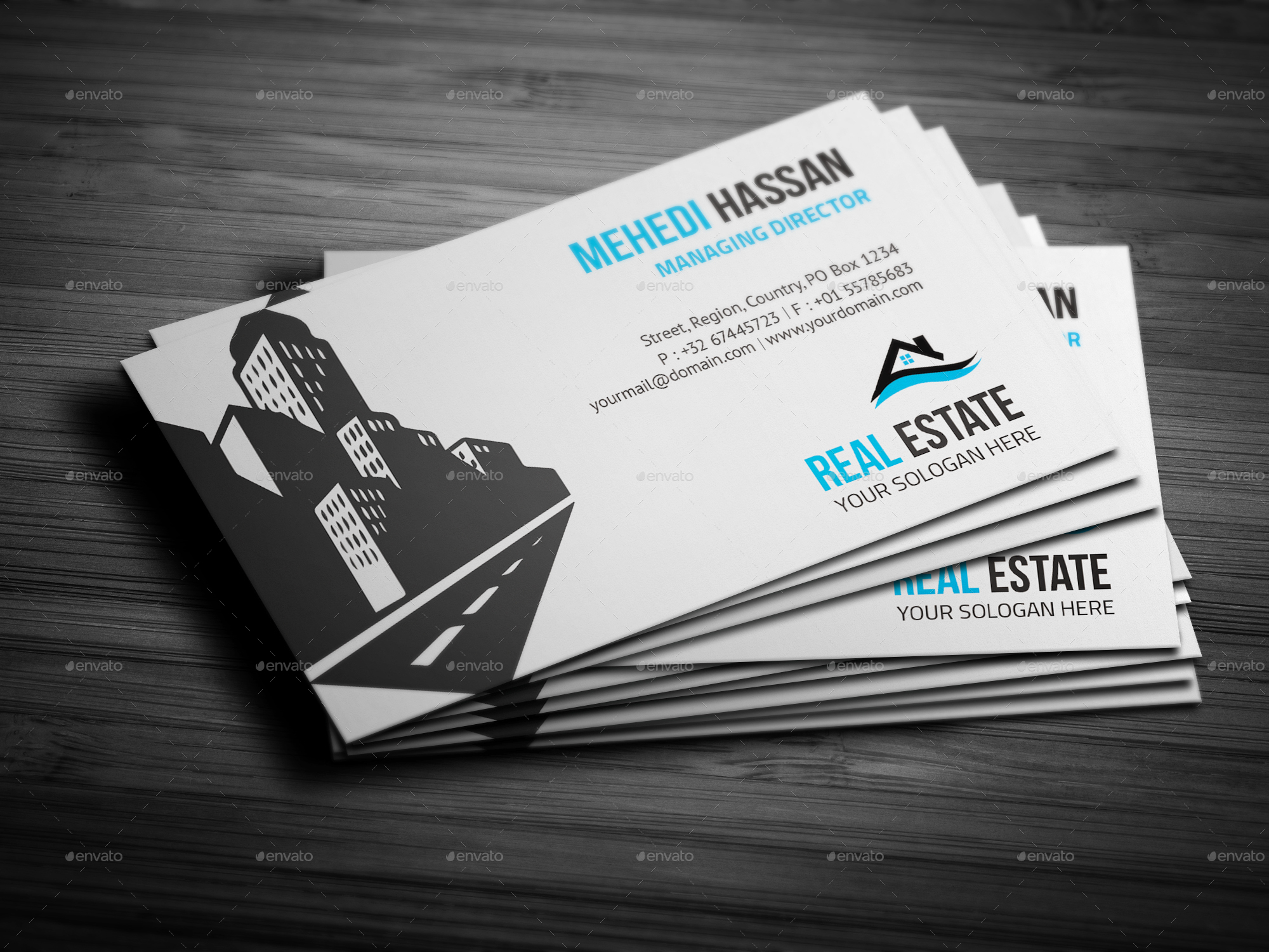 real estate business card by mehedi hassan