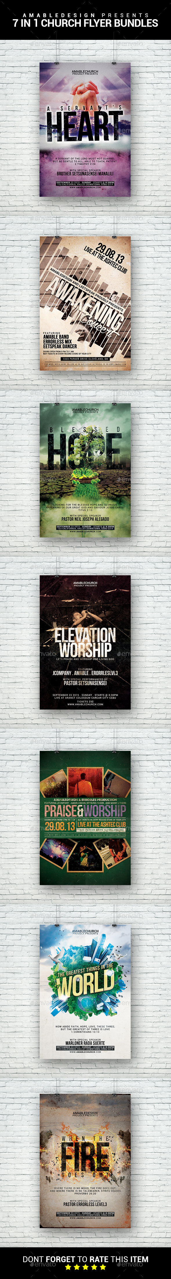 7 in 1 Church Flyer Bundle