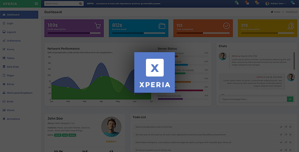 Xperia – Bootstrap 3 Responsive Admin Template