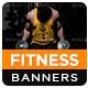 Gym & Fitness HTML5 Banners - GWD - 7 Sizes - CodeCanyon Item for Sale