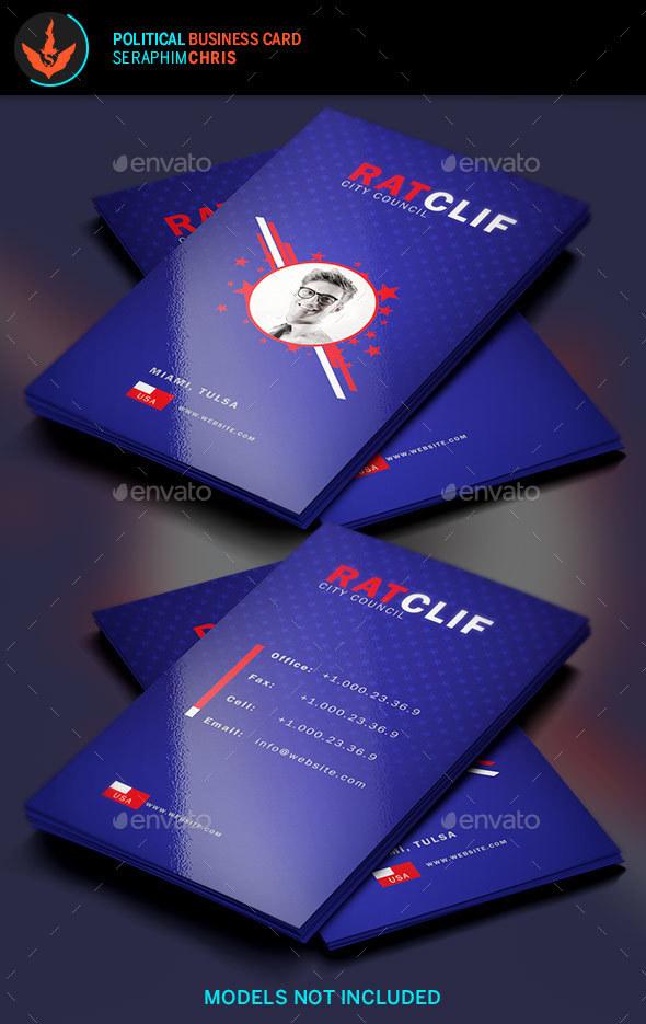 Political Business Card Template 3