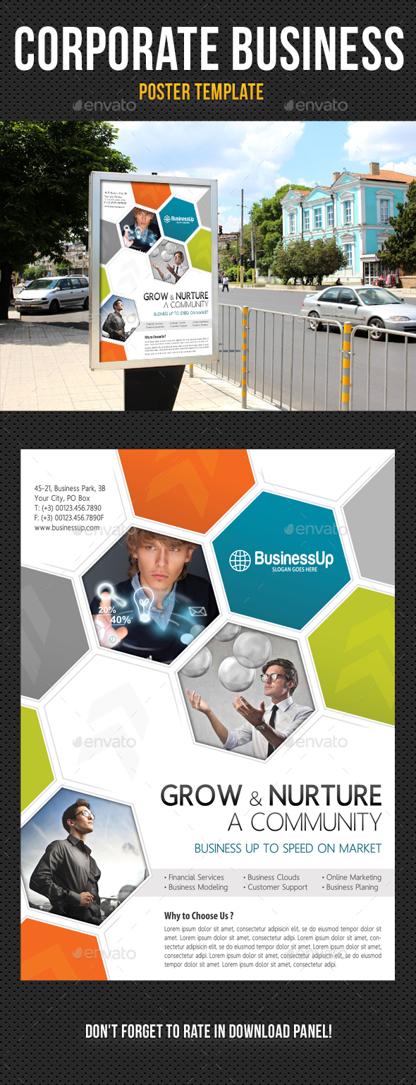 Corporate business poster template v01 by rapidgraf graphicriver corporate business poster template v01 signage print templates flashek Image collections