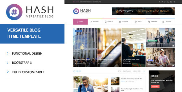 Hash News & Magazine HTML Template
