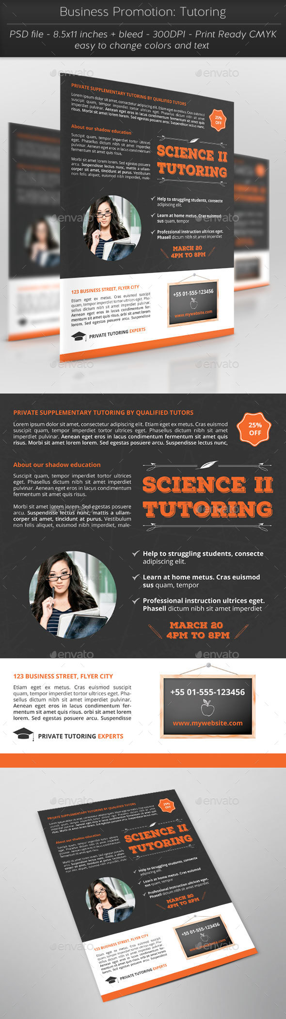 Business Promotion: Tutoring - Flyers Print Templates