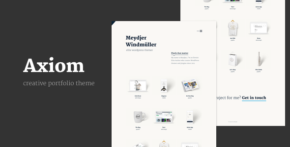 Axiom - Creative Portfolio Layers WP Child Theme - Portfolio Creative