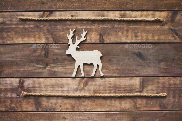 Reindeer between ropes - Stock Photo - Images
