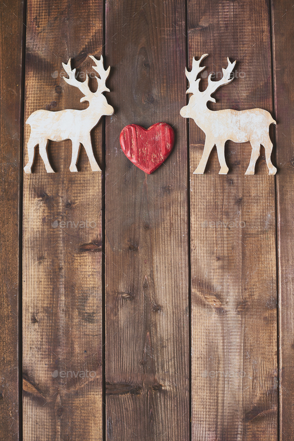 Love of reindeers - Stock Photo - Images