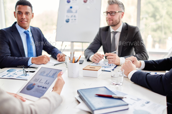 Meeting at workplace - Stock Photo - Images