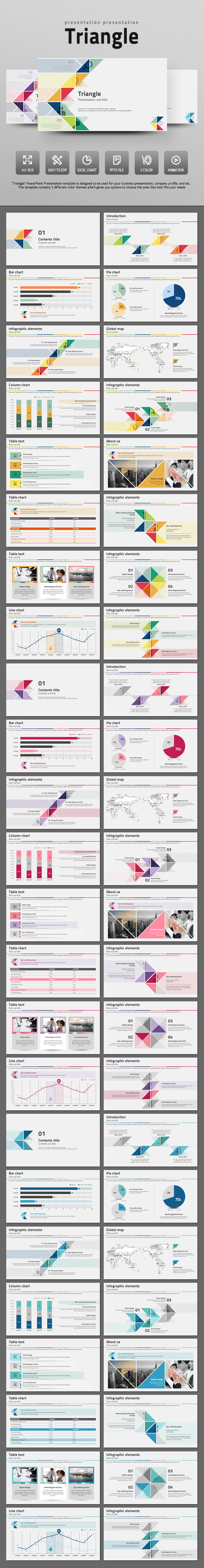 Simple Triangle  - PowerPoint Templates Presentation Templates