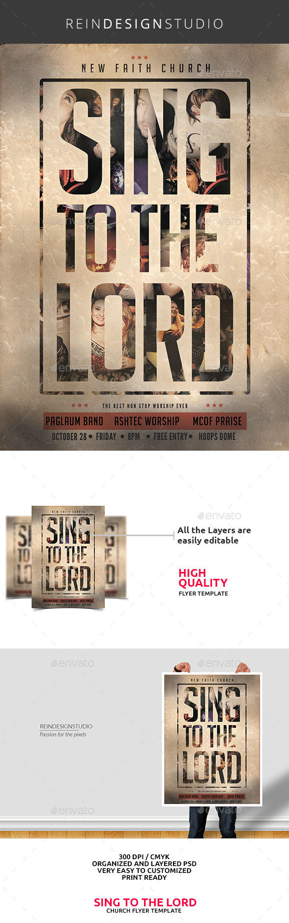 Sing to the Lord Church Flyer - Church Flyers