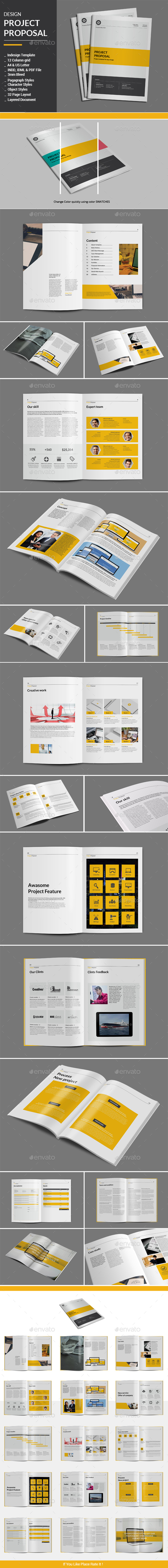 Design Project Proposal Template - Proposals & Invoices Stationery