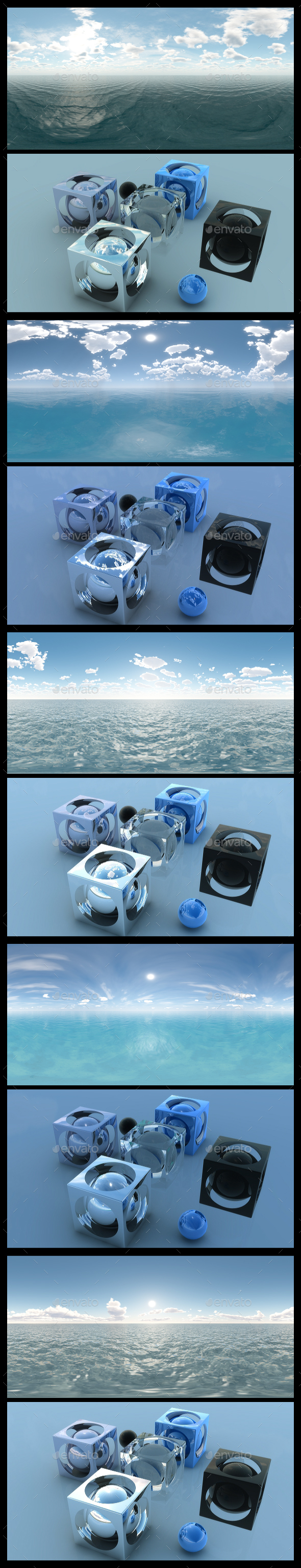 Ocean Blue Clouds HDRI Pack