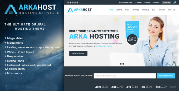 Arka Host – Responsive Hosting & Corporate Theme