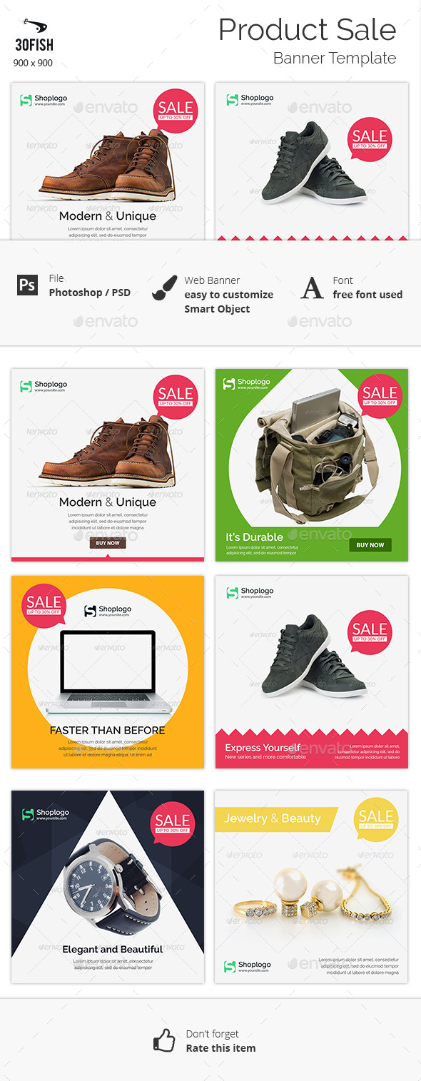 Product Sale Banner - Banners & Ads Web Elements