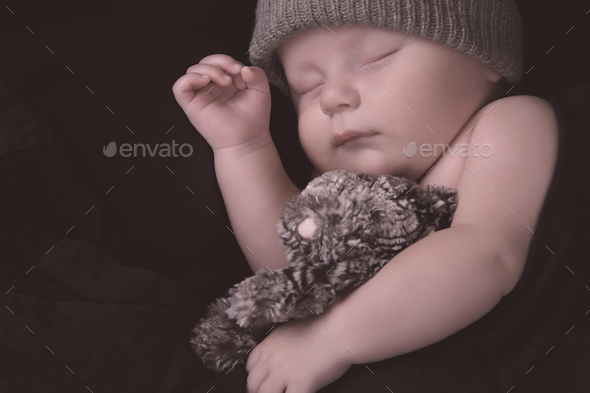 Newborn sleeping - Stock Photo - Images