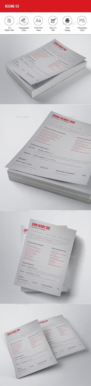Resume / CV - Resumes Stationery