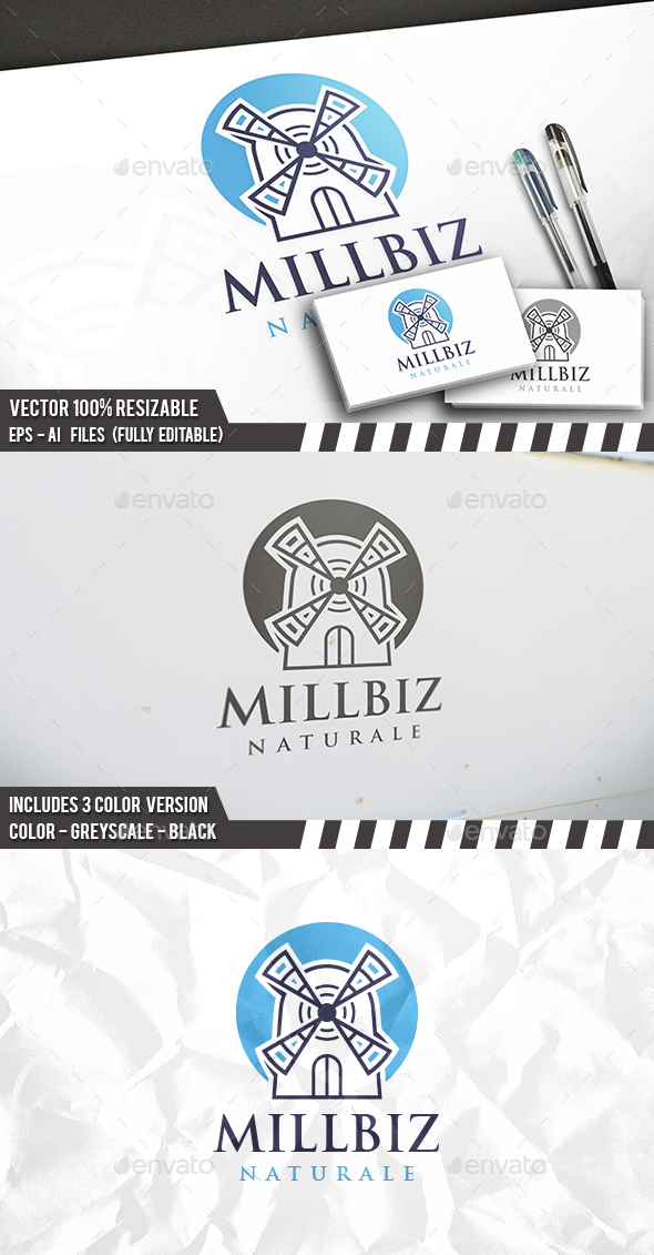 Mill Logo Template