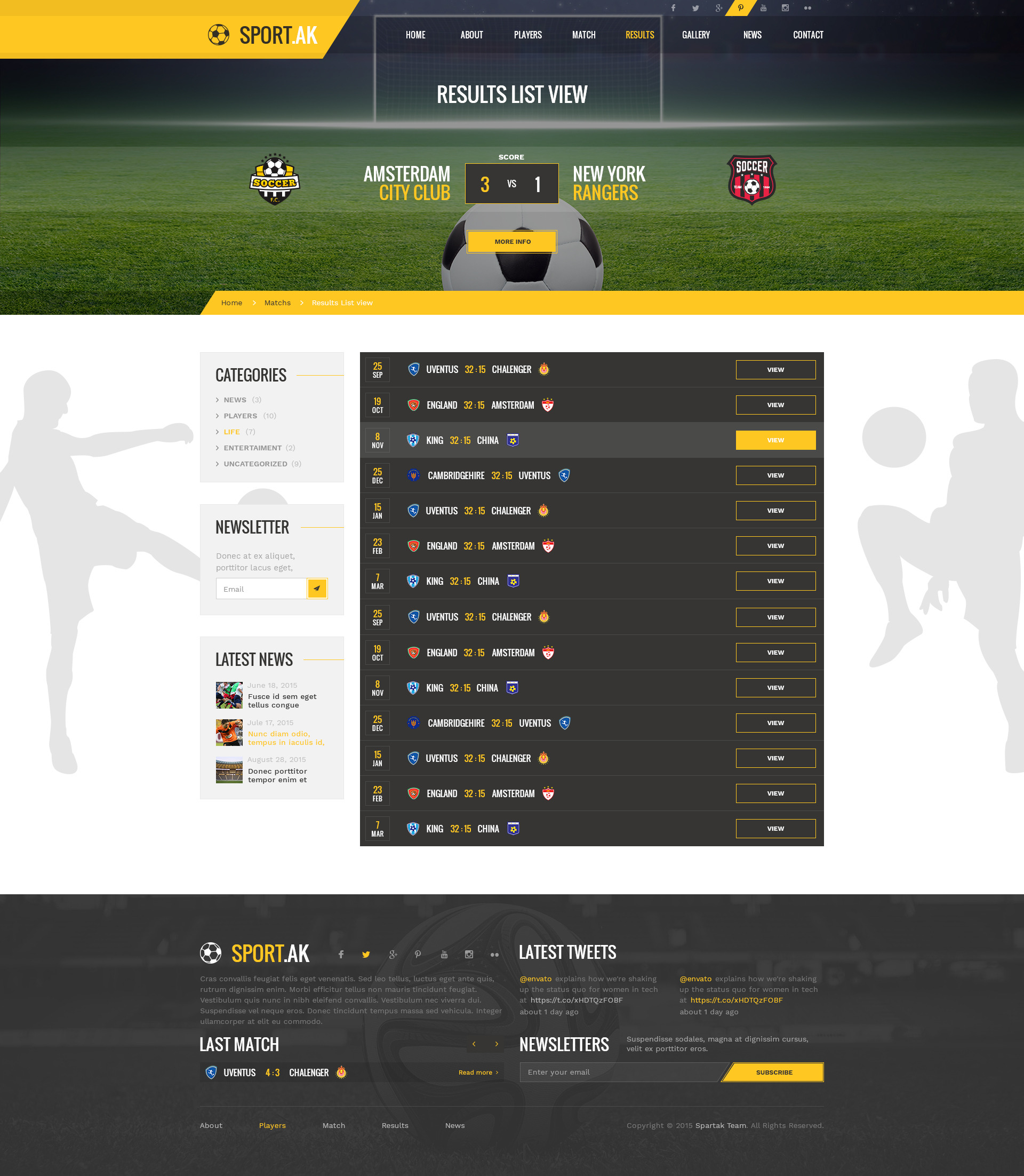 Sport.AK — Soccer Club and Sport PSD Template by torbara | ThemeForest