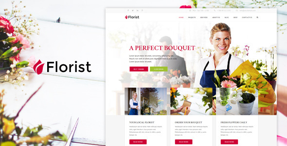 Florist – WP Florist & Flower shop Theme