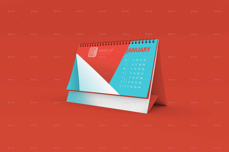 Table Calendar Mockup Free Download : Desk calendar mock up by blackrabbitlab graphicriver