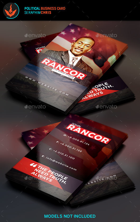 Truth political business card template by seraphimchris graphicriver truth political business card template corporate business cards colourmoves