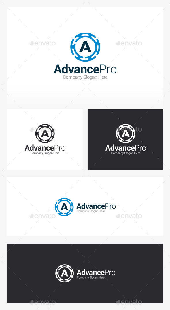 A Logo - Auto Logo - Letters Logo Templates