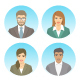 Business People Flat Avatars - GraphicRiver Item for Sale