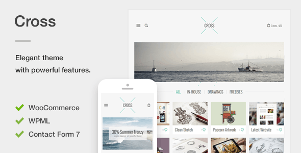 Cross - An Elegant Minimal WordPress Theme - Creative WordPress