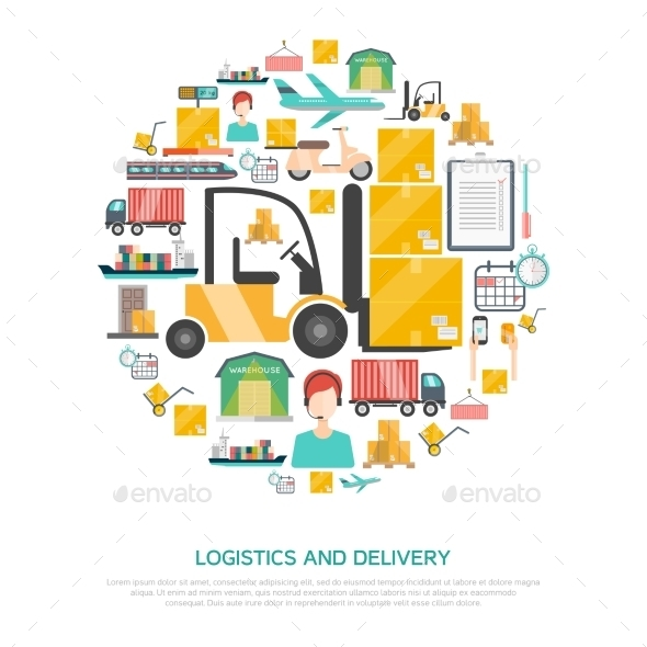 Logistics And Transportation Concept  - Services Commercial / Shopping