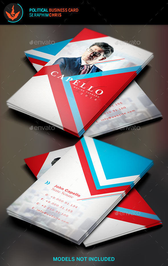 Political Business Card Template 5