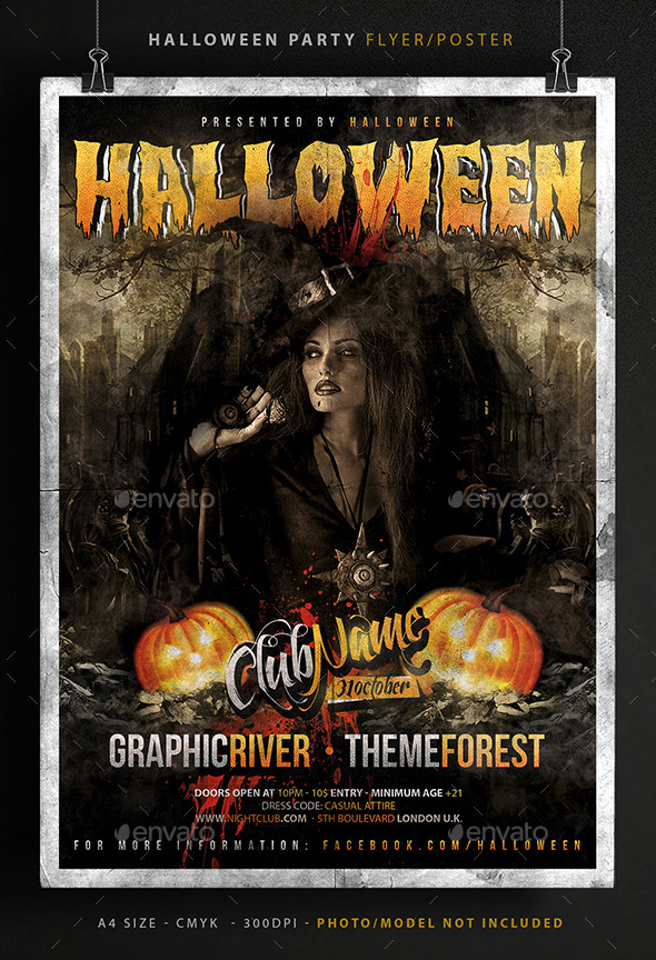 Halloween Party Poster Flyer