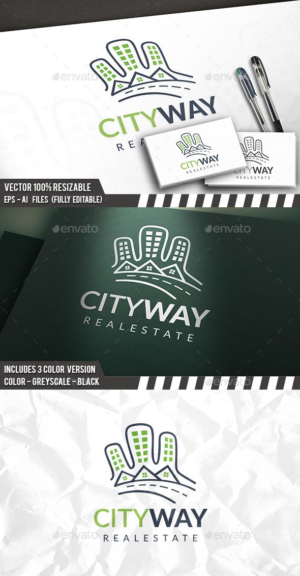 City Way Logo - Buildings Logo Templates